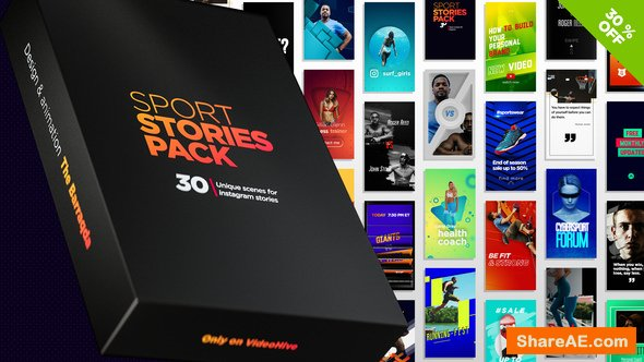 Videohive Sport Stories Pack