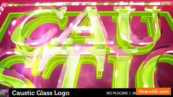 Videohive Caustic Glass Logo
