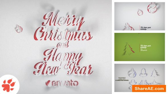 Videohive Christmas Greetings Paper