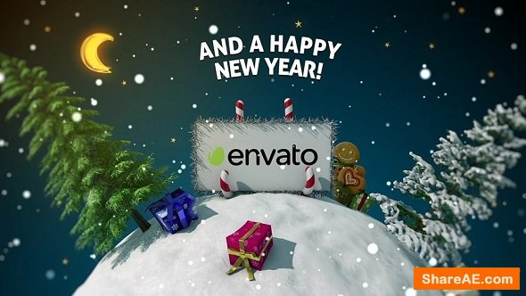 Videohive New Year card 3D