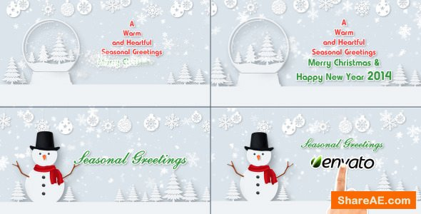 Videohive Christmas Wishes Text