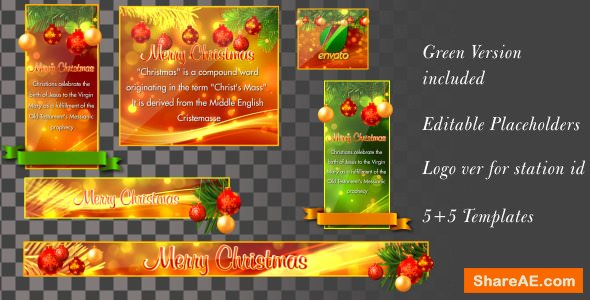 Videohive Christmas Banners-Lowerthirds V1