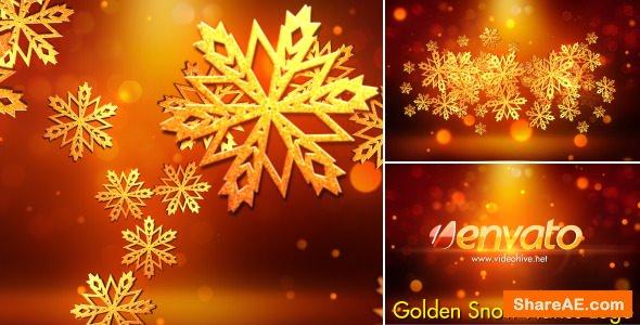 Videohive Snowflakes Logo