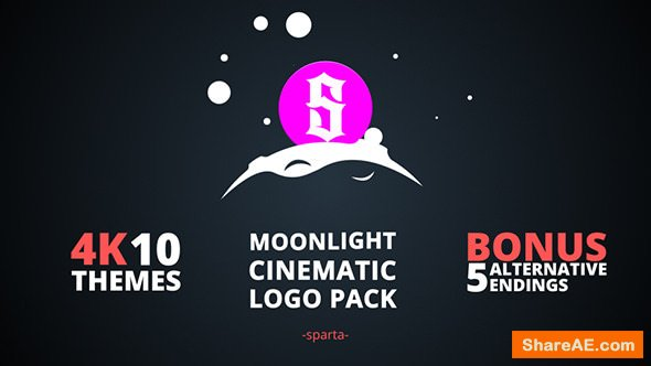 Videohive Moonlight Cinematic Logo Pack