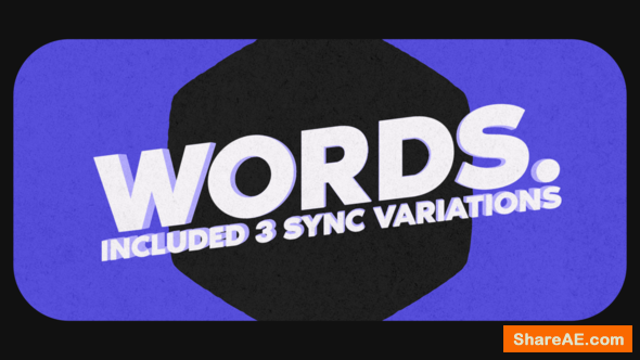 Videohive Words Stomp