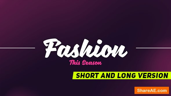 Videohive Fashion Promo 19239640