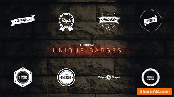 Videohive Unique Badges