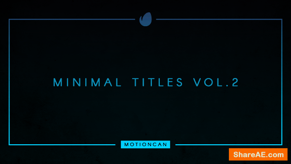 Videohive Minimal Titles 17993614