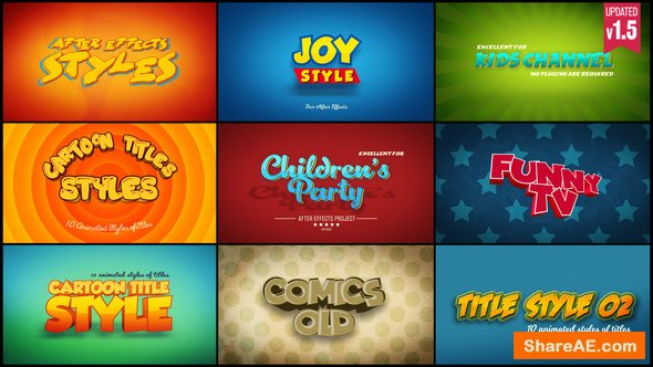 Videohive Cartoon Titles Styles