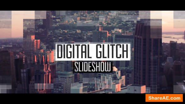 Videohive Glitch Data Slideshow