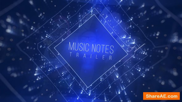 Videohive Music Notes Trailer