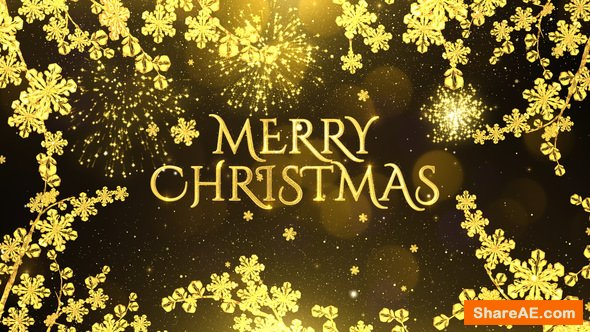 Videohive Golden Christmas Wishes 22886197