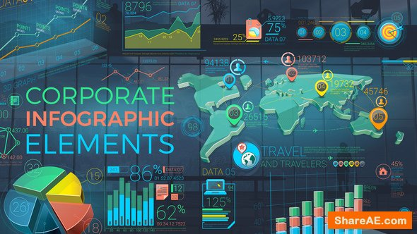 Videohive Colorful Corporate Infographic Elements