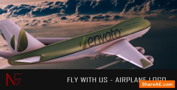 Videohive Fly With Us - Airplane Logo