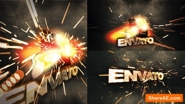 Videohive Sparky Title