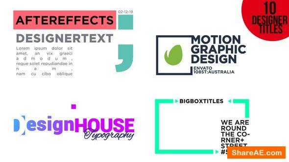 Videohive Designer Titles