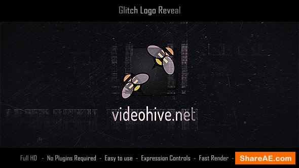 Videohive Glitch Logo Reveal 19655446