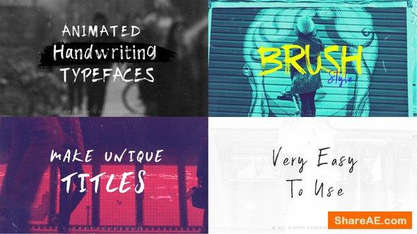Videohive Brush-Animated Handwritten Typefaces