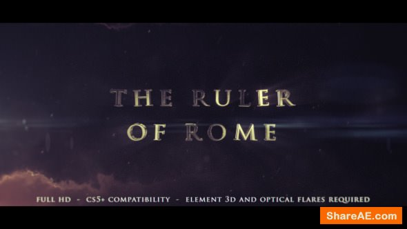 Videohive The Ruler Of Rome - Cinematic Trailer