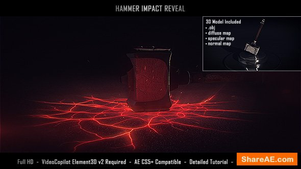 Videohive Hammer Impact Reveal