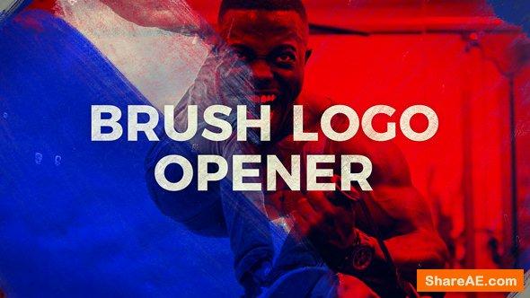 Videohive Brush Logo Opener