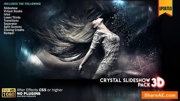 Videohive Crystal Slideshow Pack 3D