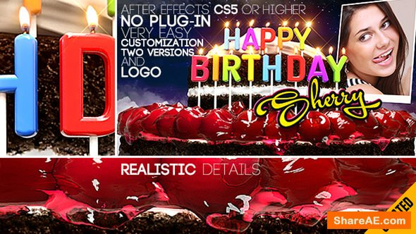 Videohive Happy Birthday All Languages