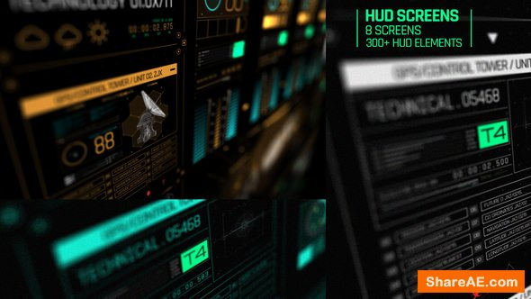 Videohive HUD Screens