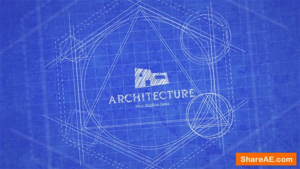 Videohive Blueprint Logo Reveal