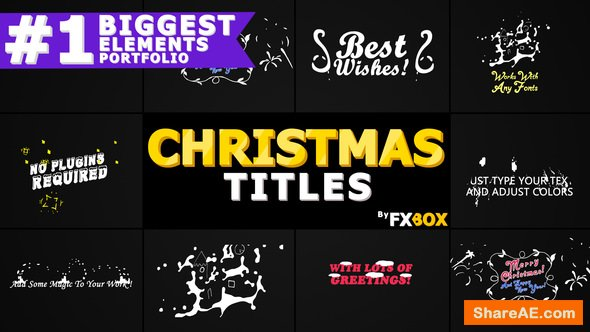 Videohive Christmas Titles And Transitions