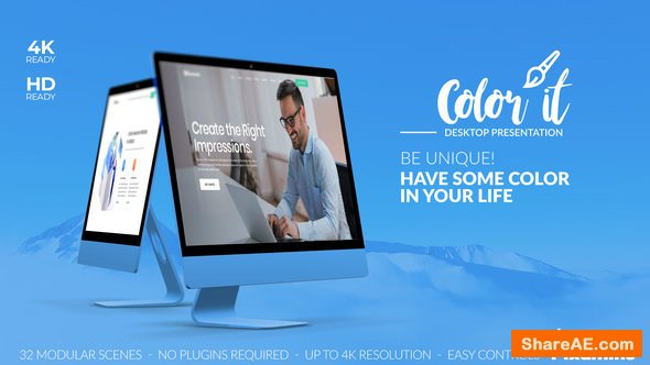 Videohive Color it - Desktop Presentation