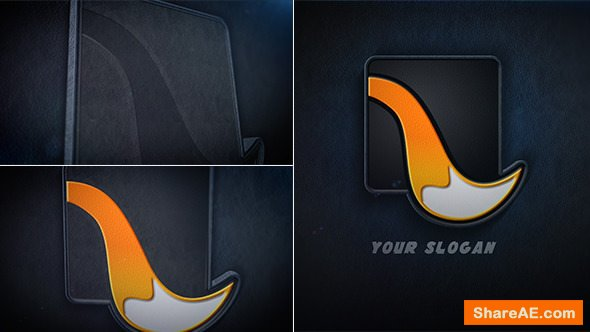 Videohive Leather Logo Reveal