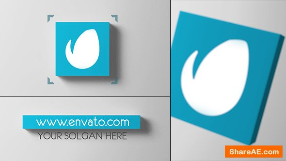 Videohive 3D Cube Logo Reveal