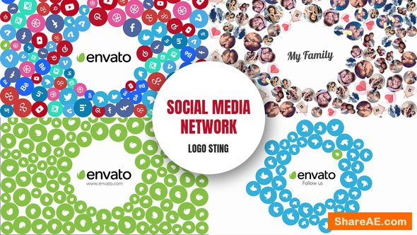 Videohive Social Media Network - Logo Sting