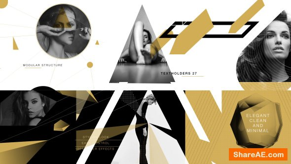 Videohive Gold Shape