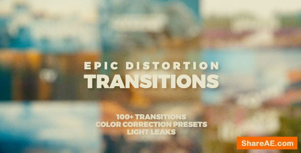 Videohive Epic Distortion Transitions