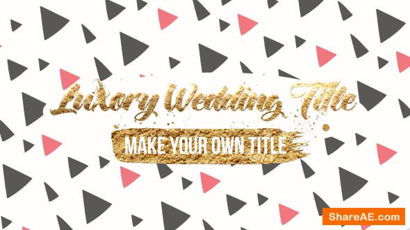 Videohive Luxory Wedding Title Kit