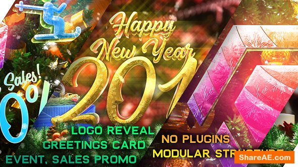 Videohive New Year Pack - Logo Reveal, Sale and Event Promo
