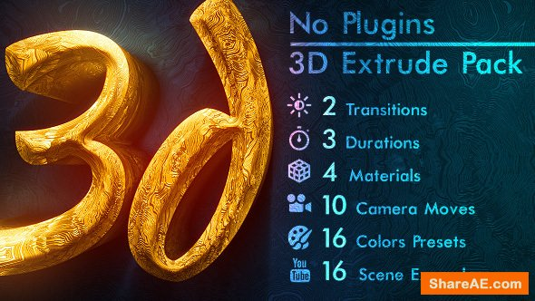 Videohive 3d Gold Titles and Logo. NO PLUGINS