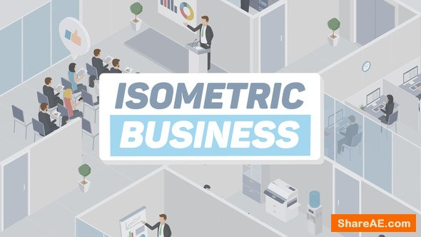 Videohive Business Isometric