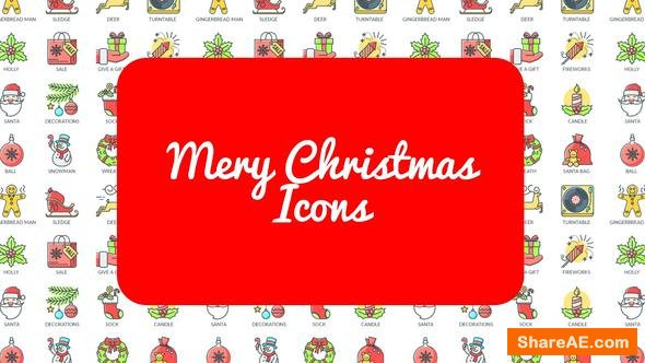 Videohive Mary Christmas - 30 Animated Icons