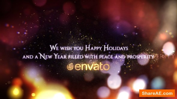 Videohive Season's Greetings - Christmas And New Year Wishes