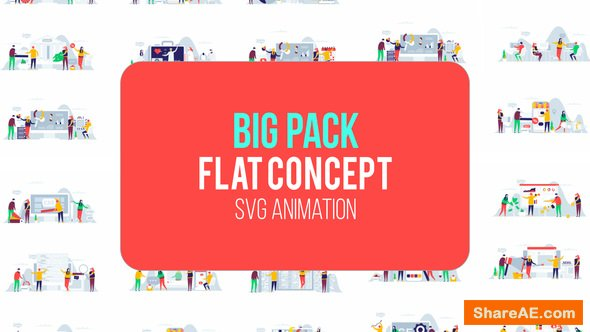 Videohive Big Pack Of Flat Concept