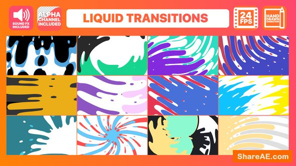 Videohive Liquid Transitions Big Pack » free after effects