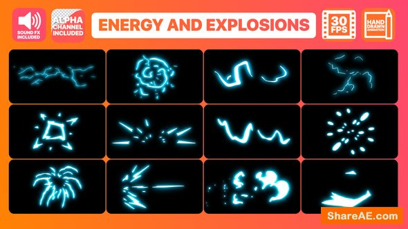 Videohive Energy And Explosion Elements
