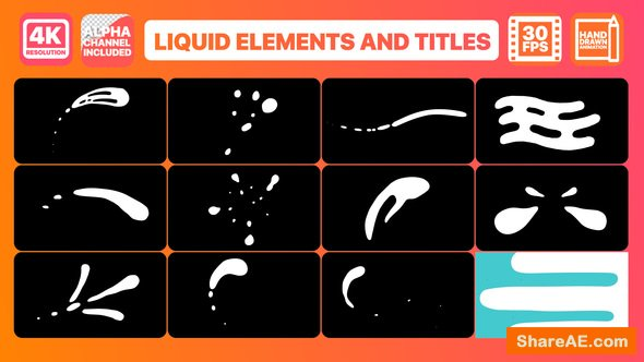 Videohive Liquid Shapes And Titles