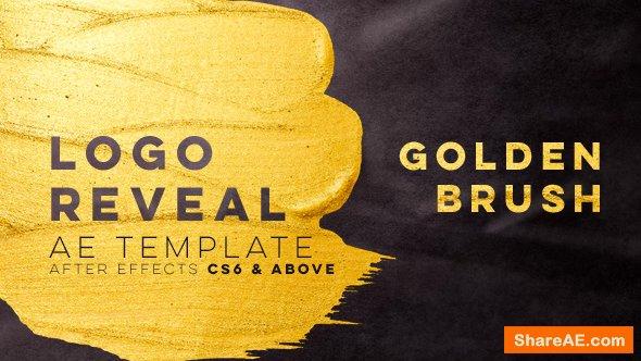 Videohive Golden Brush Logo Reveal