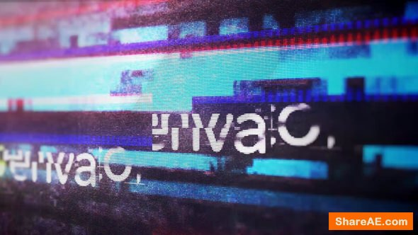 Videohive Glitch Logo Reveal 21401383
