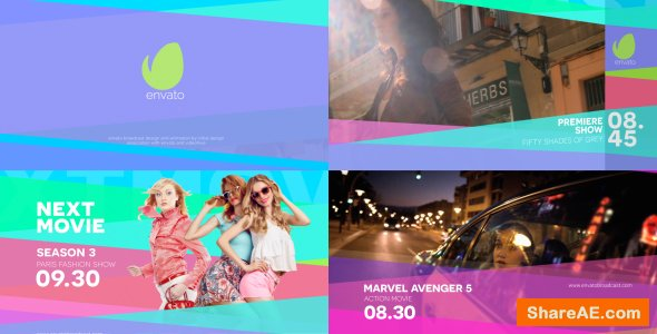 Videohive Colorfull Broadcast Pack