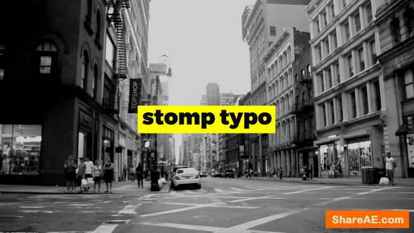Videohive Stomp Typo Opener